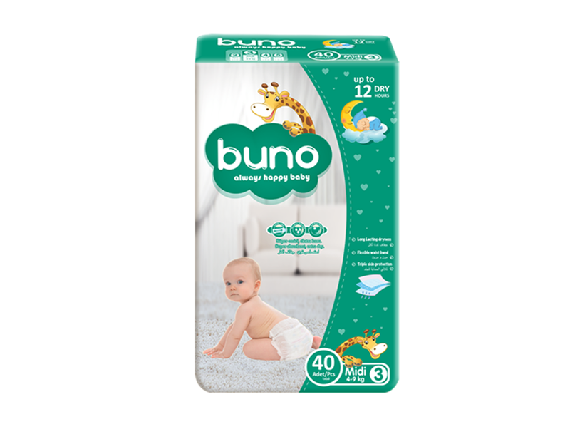 Buno Baby Diapers Midi 40 Pcs