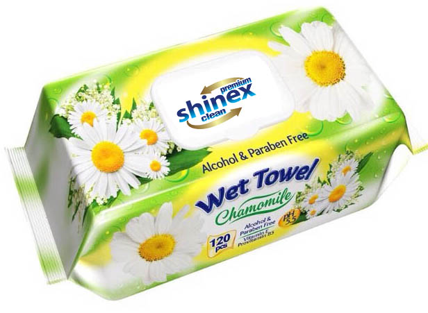 Wet Wipes with lid 120 Pcs