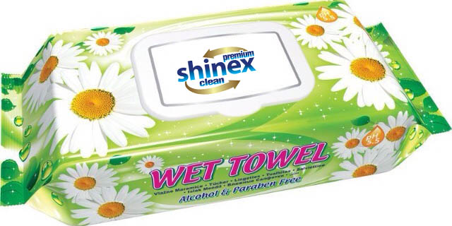 Wet Wipes with lid 72 Pcs