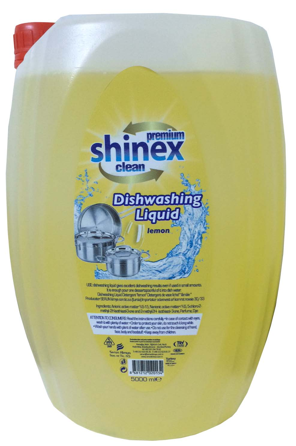Shinex Dishwashing Liquid Lemon 5 Kg