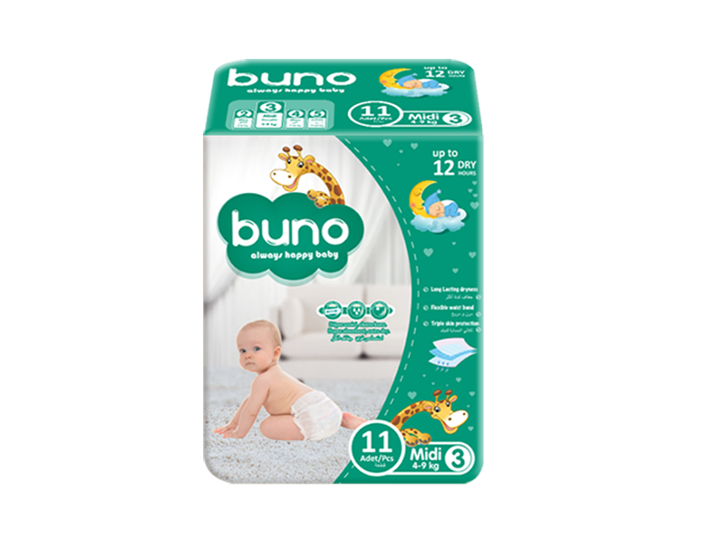 Buno Baby Diapers Midi 11 Pcs