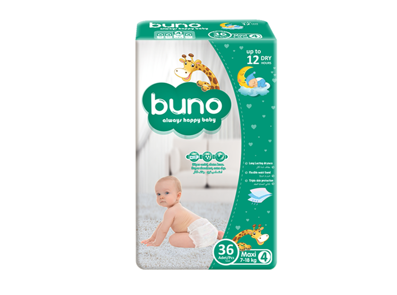Buno Baby Diapers Maxi 36 Pcs
